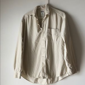 Button Up Cream Corduroy Long Sleeve shirt